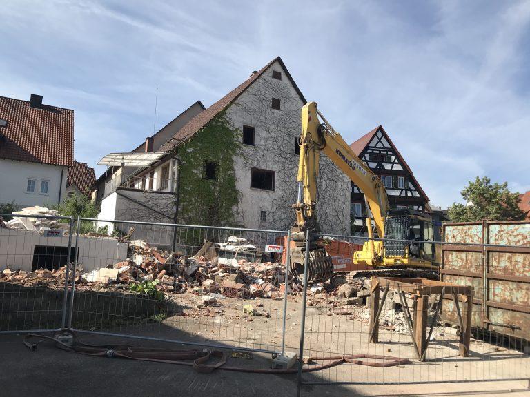 Abbruch eines Wohnhauses in Gaildorf -nachher-