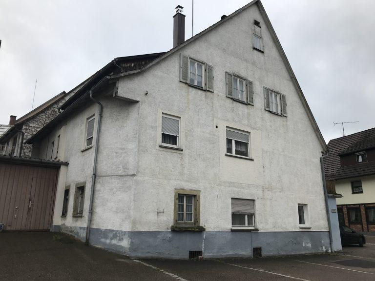Abbruch eines Wohnhauses in Gaildorf -vorher-