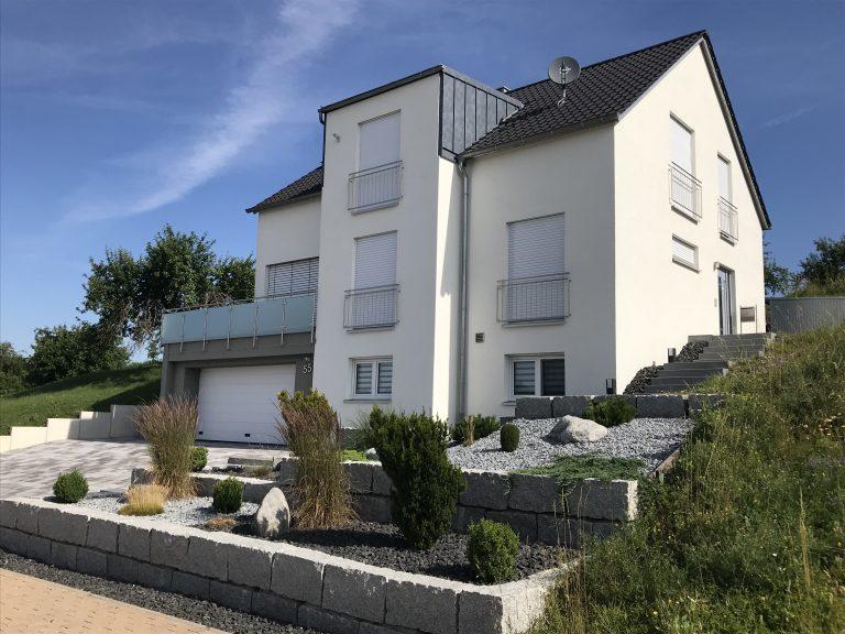 Einfamilienhaus in Großaltdorf Massivbauweise Planung, Werkplanung, Statik, Bauleitung