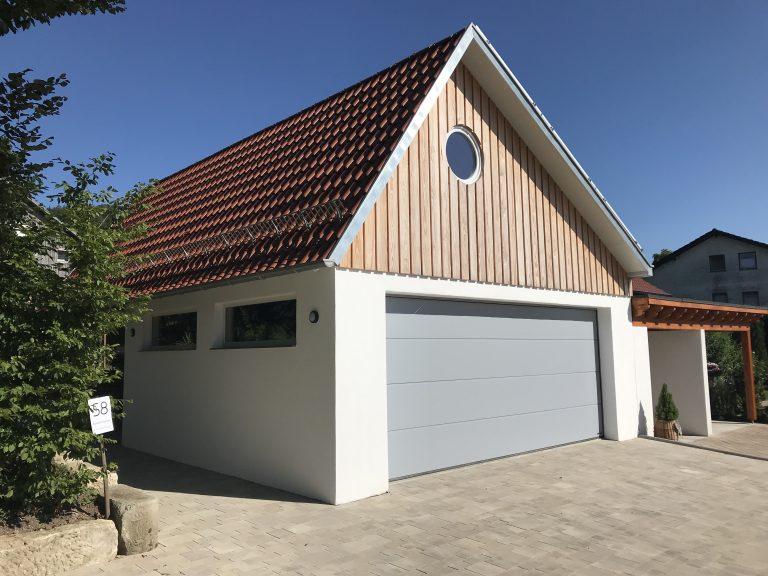 Doppelgarage in Eutendorf Massivbauweise Planung, Werkplanung, Statik, Bauleitung