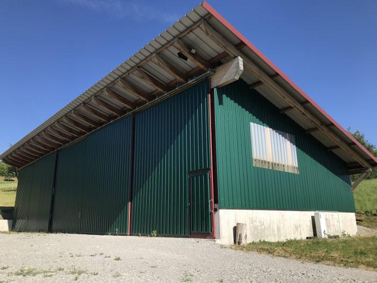 Überdachung für Holzlager in Eutendorf Ständerbauweise Planung, Werkplanung, Statik, Bauleitung