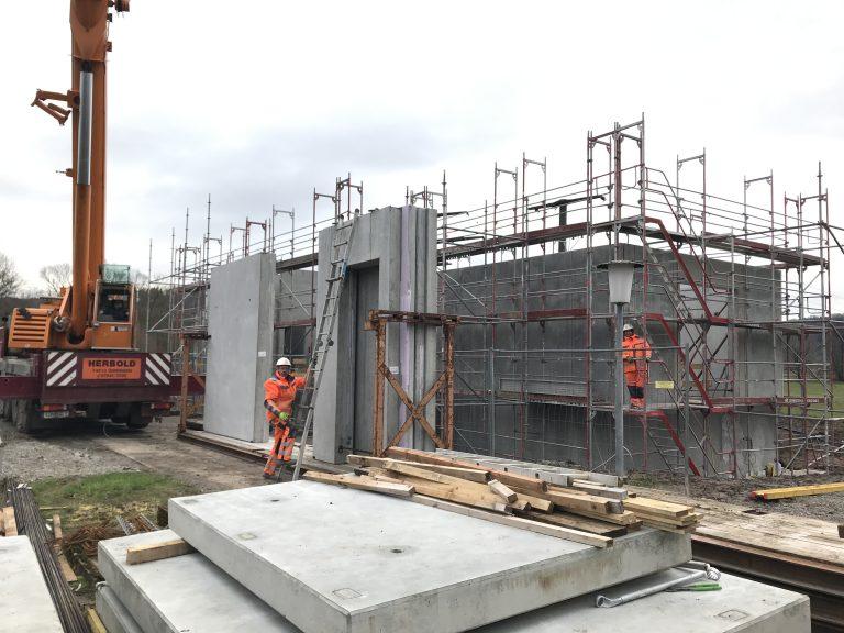 Umspannwerk in Unterrot. Bauherr Netze BW. Massivbau Baugesuche, Bauleitung